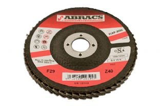 Connect 32082 Abracs Zirconium Flap Discs 115mm x P40 Pack 5